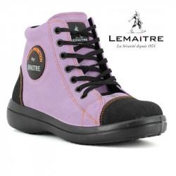 chaussure basket de securite femme lilas