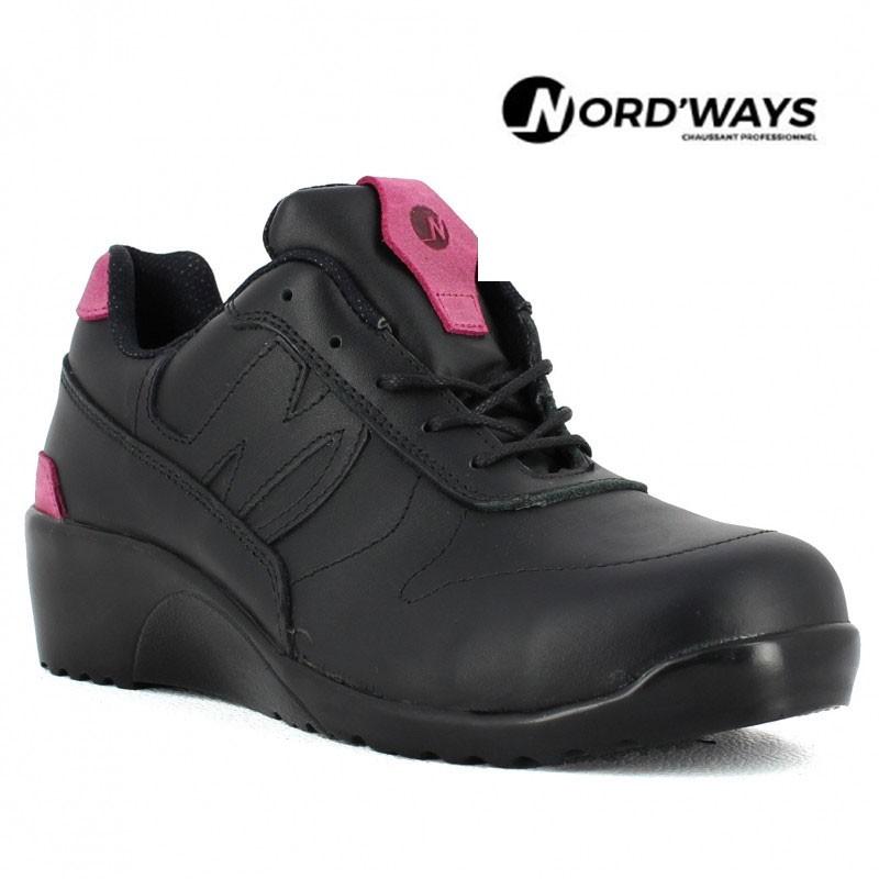chaussures de sport 3ebb0 1ea8a CHAUSSURE DE SÉCURITÉ FEMME JENNY NORD'WAYS ULTRA LÉGÈRE EN CUIR