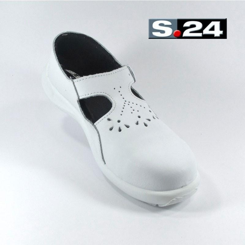 abd2c830e4d Chaussure de sécurité blanche pour femme LISASHOES