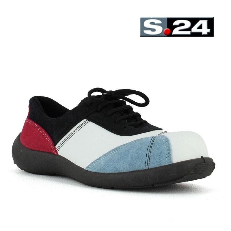 Sécurité Bleu De Et Rouge Chaussure Femme kZTPOuiX