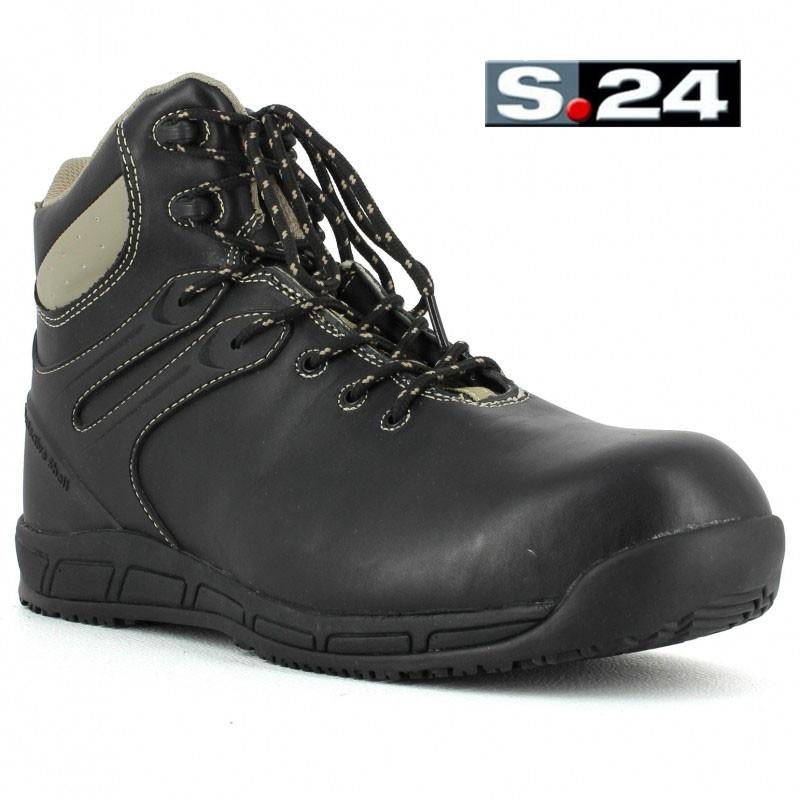 Chaussure de securite haute en cuir s24