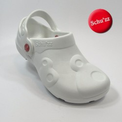 chaussure sabot medical blanc