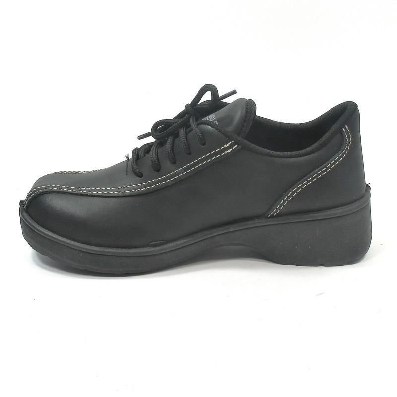 prix de la rue rechercher l'original officiel de vente chaude Chaussure de securite noir à talon pour femme LISASHOES