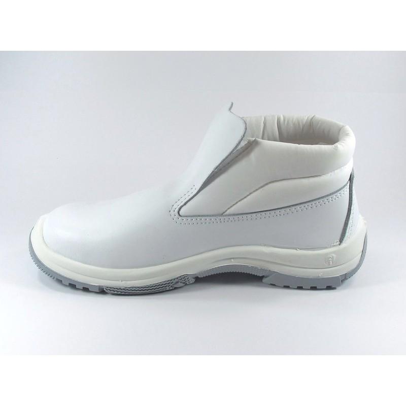 Chaussure de s curit cuisine montante lisashoes - Chaussure de securite blanche ...