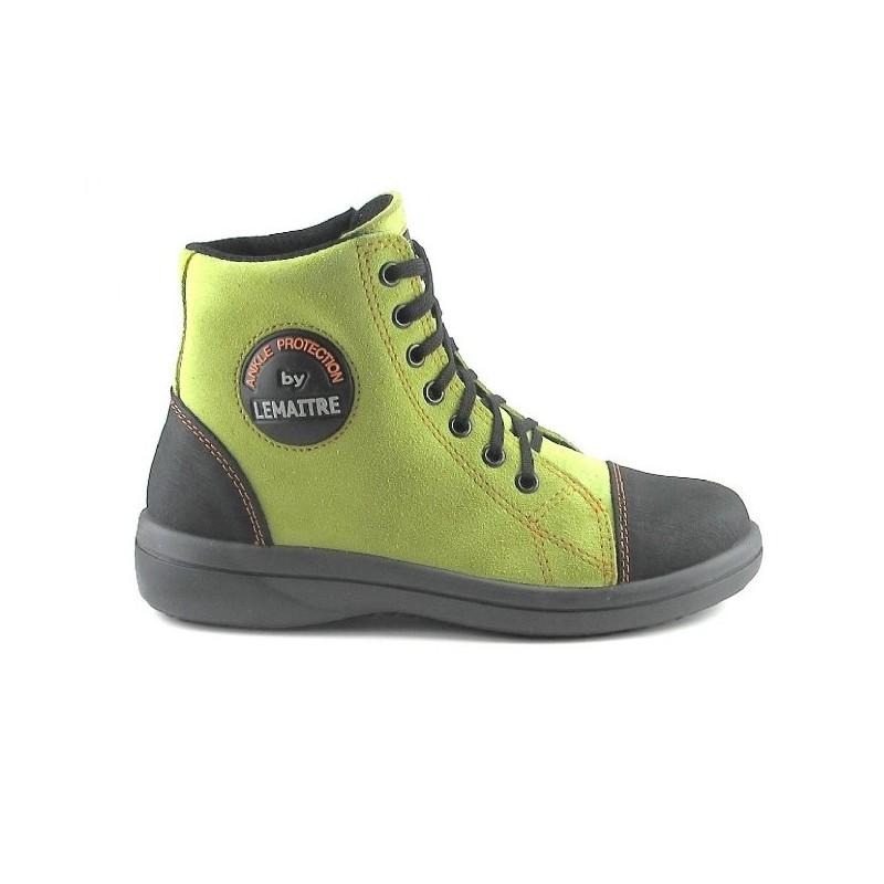 Chaussures Lemaitre vert anis femme KFRE696BGS