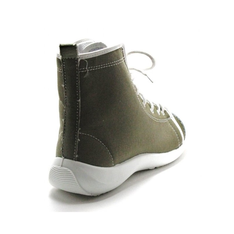 chaussure s curit montante femme kaki lisashoes. Black Bedroom Furniture Sets. Home Design Ideas