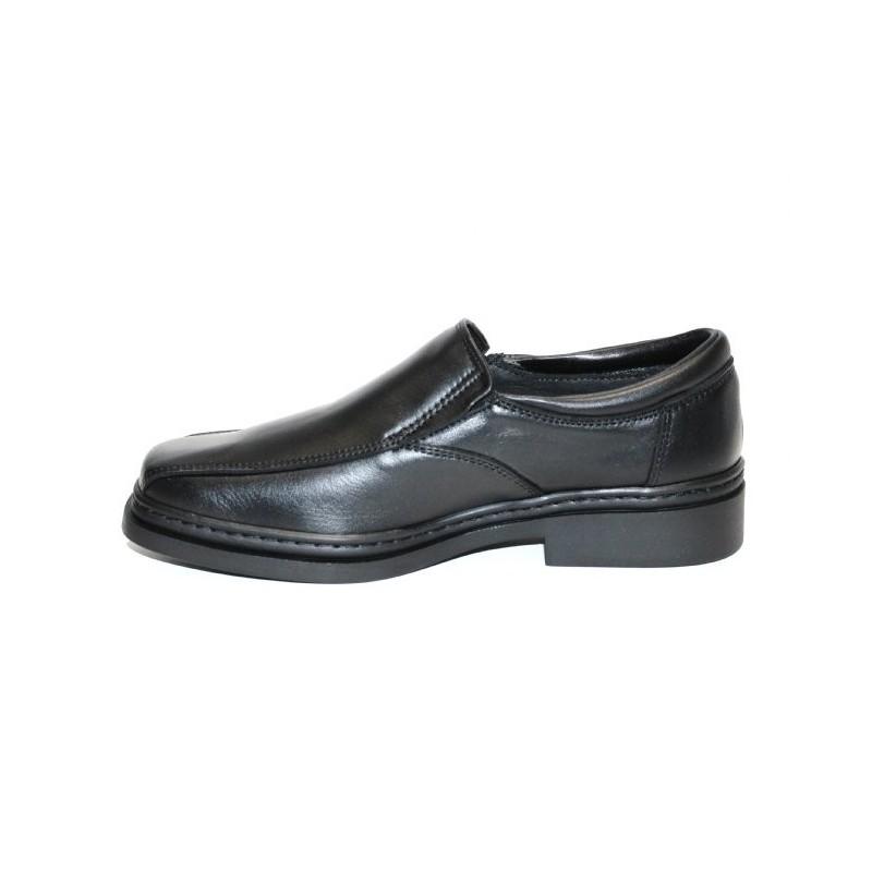 f7c66d92ec52 Chaussure de service restauration en cuir noir pour homme LISASHOES