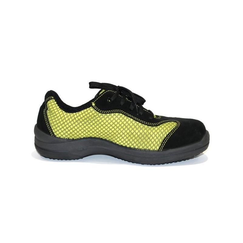 basket de s curit femme l g re et souple jaune lisashoes. Black Bedroom Furniture Sets. Home Design Ideas