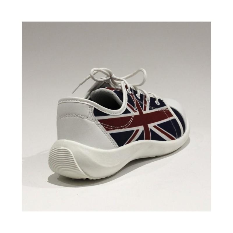 0d23f23e9b3 Lisashoes Tennis Avec Sécurité Anglais Chaussure Drapeau De qvpEHvxY