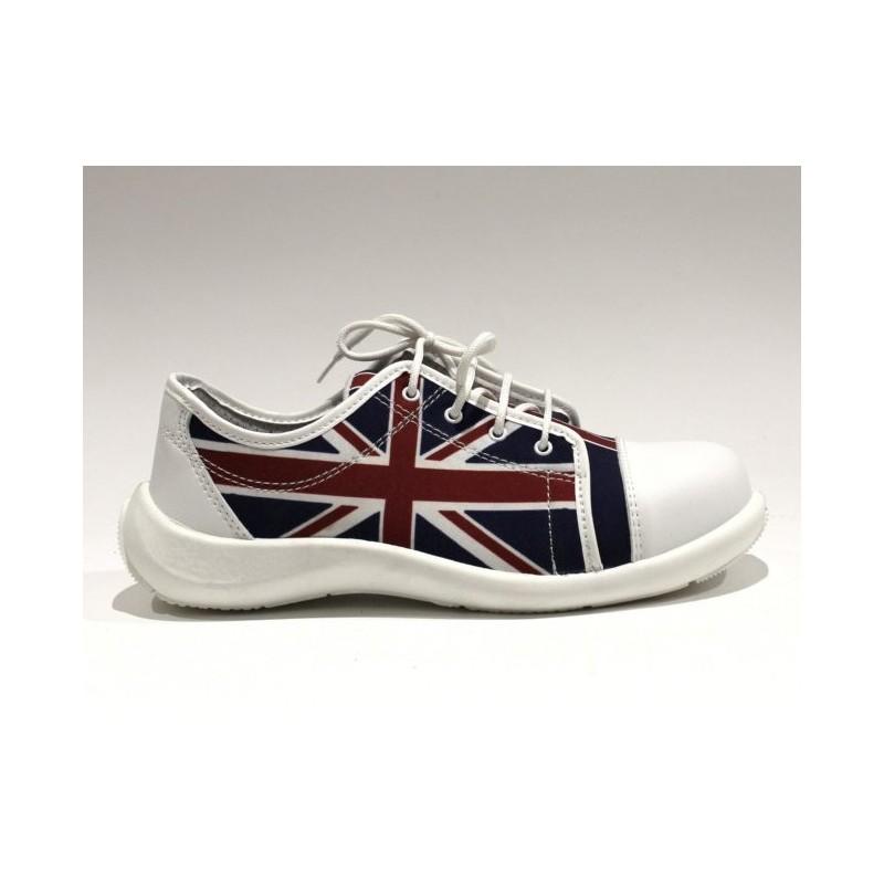 7957b6cacd8fc0 Chaussure De Sécurité Sécurité Sécurité Tennis Avec Drapeau Anglais Lisashoes  Lisashoes Lisashoes