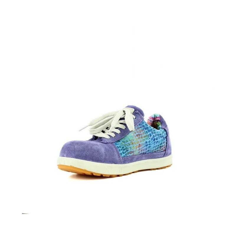 chaussure de s curit l g re violette pour femme lisashoes. Black Bedroom Furniture Sets. Home Design Ideas