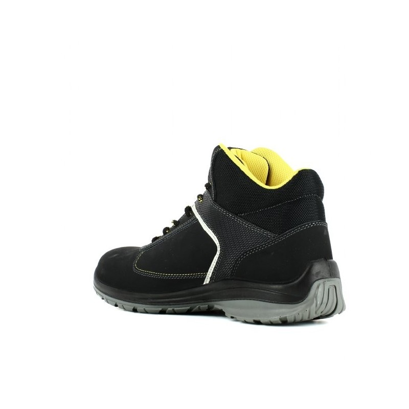 chaussure de s curit noir sans m tal pour homme lisashoes. Black Bedroom Furniture Sets. Home Design Ideas