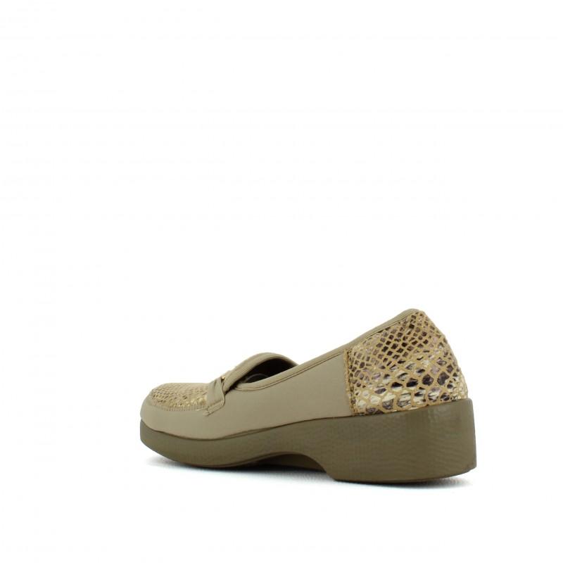 88c8b9ecfecc4 Mocassins de confort femme pieds sensibles large SOLDES LISASHOES