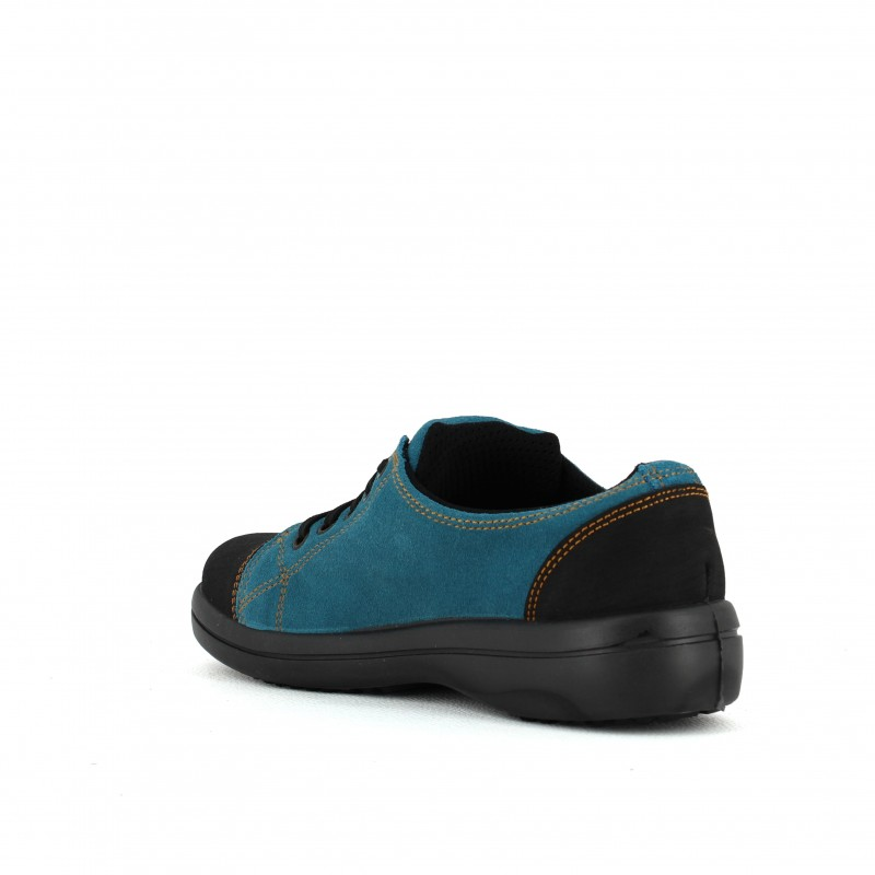 chaussures de séparation fb77d 3ee9d Baket de sécurité légère pour femme bleu turquoise LISASHOES