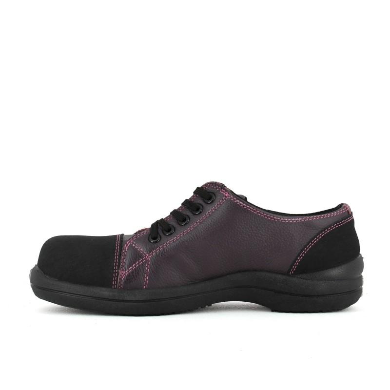 chaussure de s curit femme tr s souple prune lisashoes. Black Bedroom Furniture Sets. Home Design Ideas