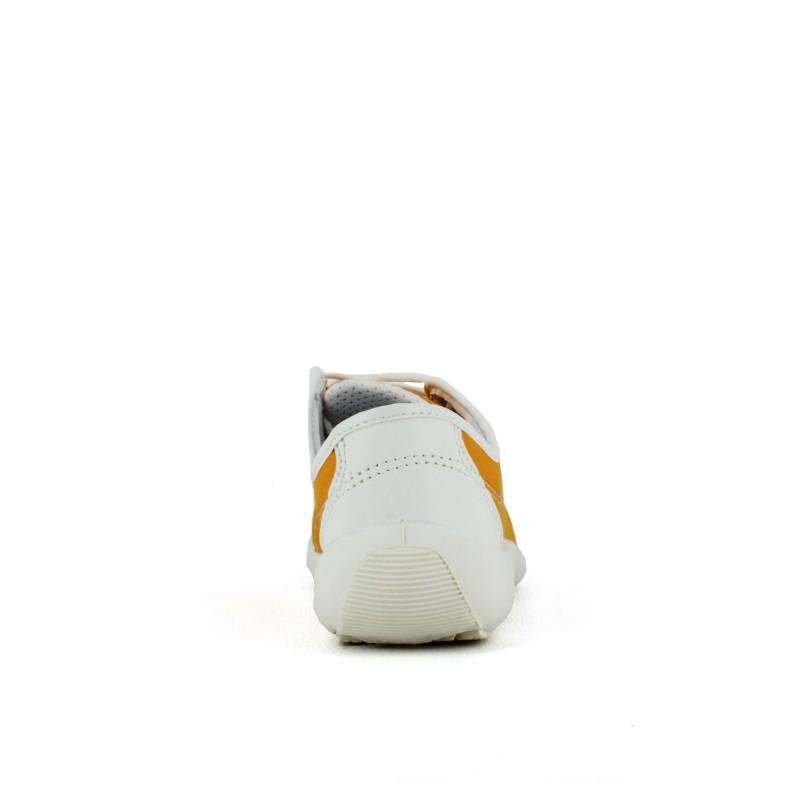 Chaussure tennis de sécurité femme en toile orange LISASHOES