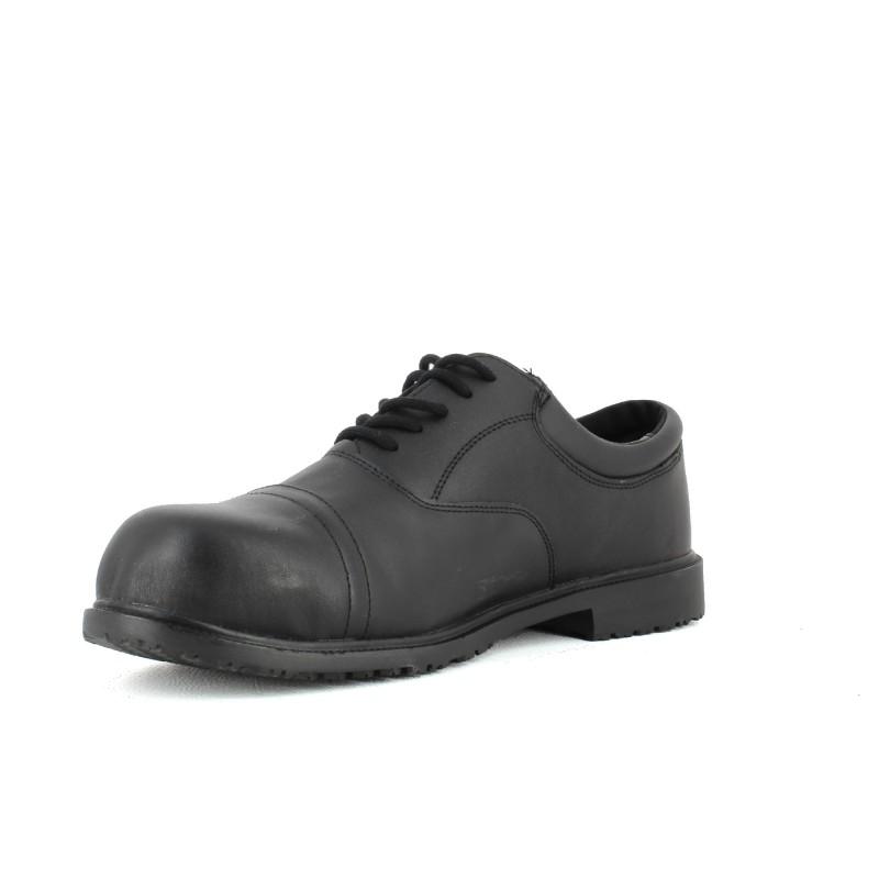 chaussure de s curit de ville en cuir lisashoes. Black Bedroom Furniture Sets. Home Design Ideas