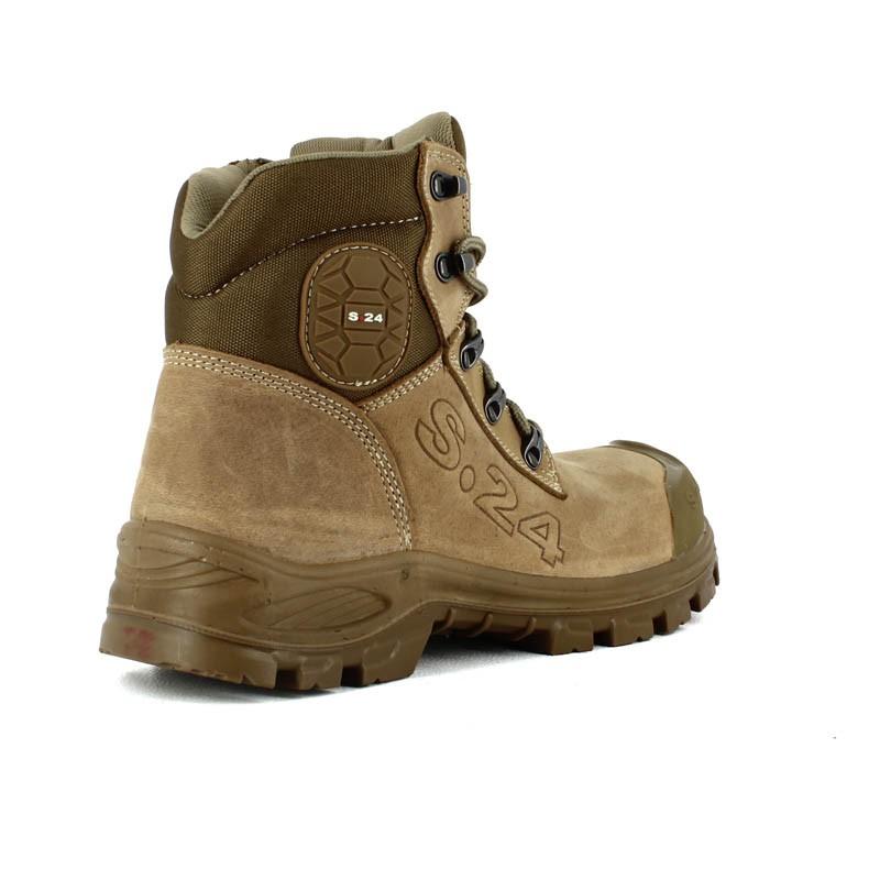 218266c8fcb Chaussure sécurité homme beige style TImberland 74