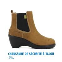 CHAUSSURE DE SÉCURITÉ FEMME À TALON